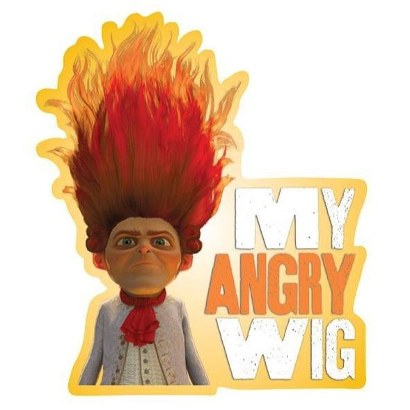 "Rumpelstiltskin ""My Angry Wig"" Kiss-Cut Sticker"