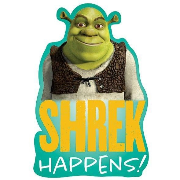 """Shrek Happens"" Kiss-Cut Sticker"