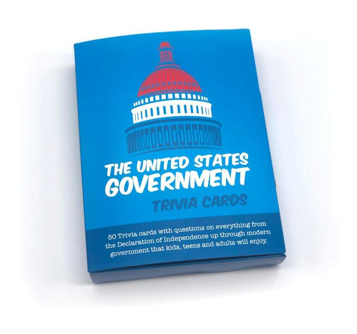 """The US Government"" Trivia Card Set"