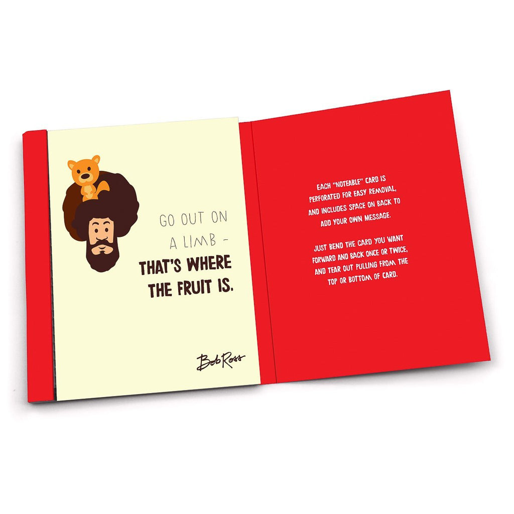"Bob Ross Cards - ""Noteable"" Inspiration & Kindness - Let's Get Crazy"