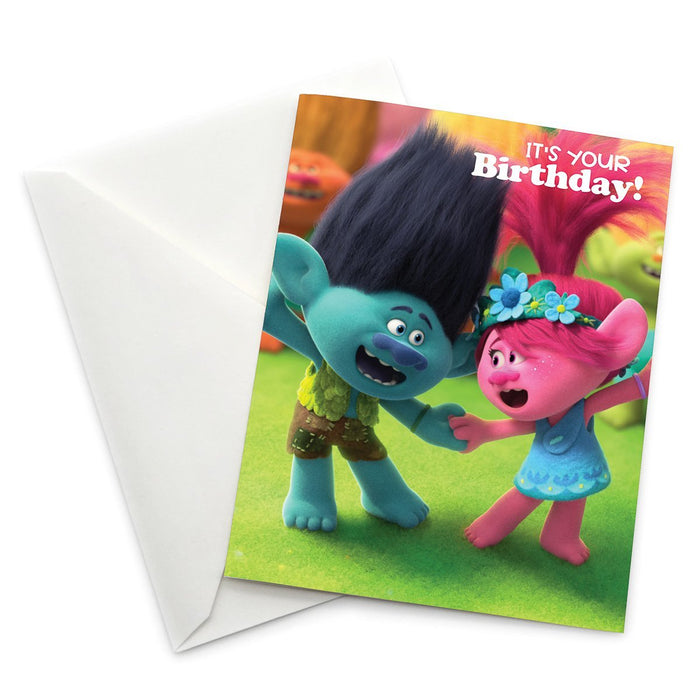 "Branch and Queen Poppy ""It's Your Birthday!"" Card 