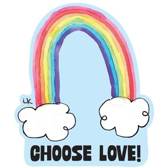 Choose Love Kiss-Cut Sticker