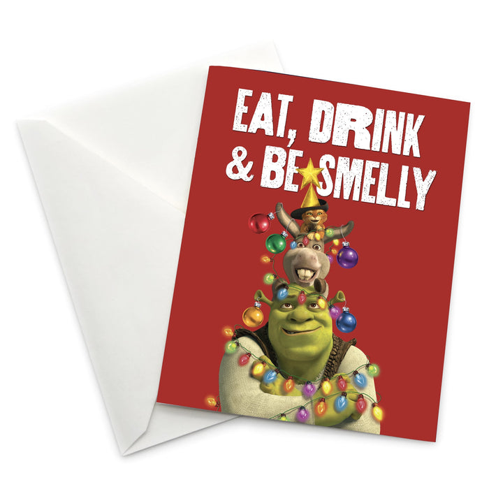 "Shrek ""Eat, Drink & Be Smelly"" Holiday Card"