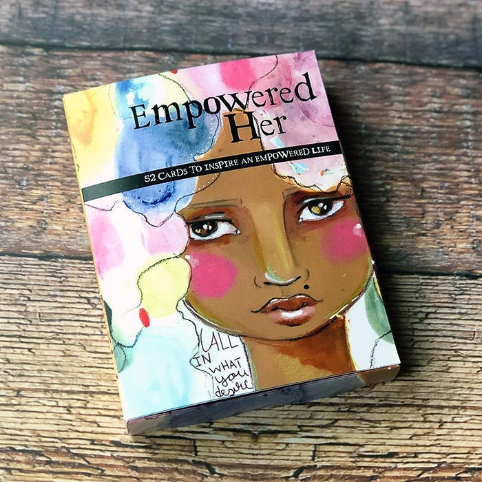 Empowered Her affirmation card set from the art of Kelly Siegel and Papersalt