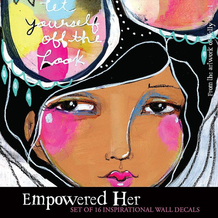 Empowered Her Wall Decal Set from the art of Kelly Siegel and Papersalt