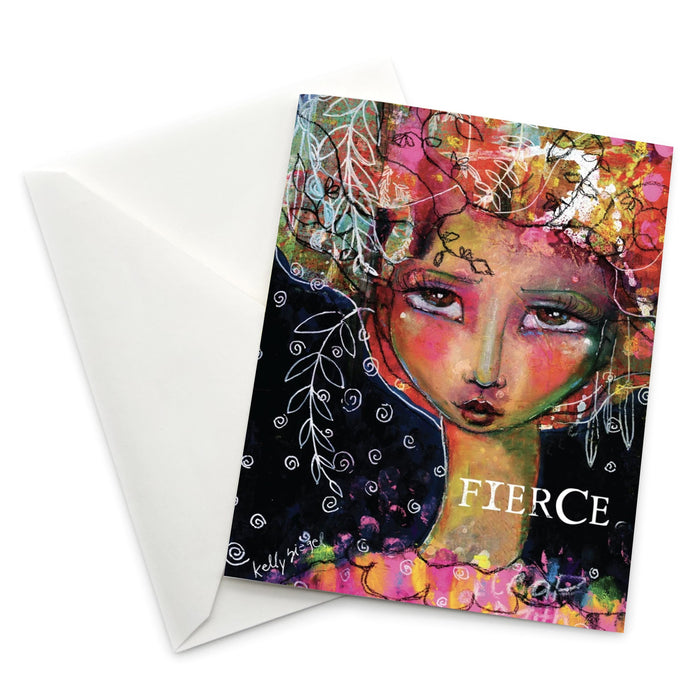 Female Empowerment Greeting Card: Fierce