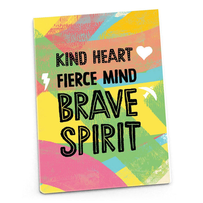 Inspirational Magnet - Kind Heart Fierce Mind Brave Spirit