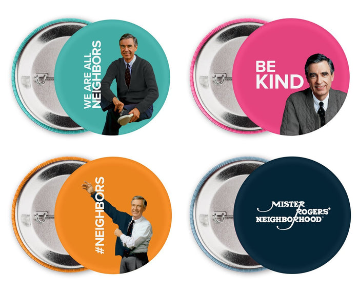 Mister Rogers Button Set or 4