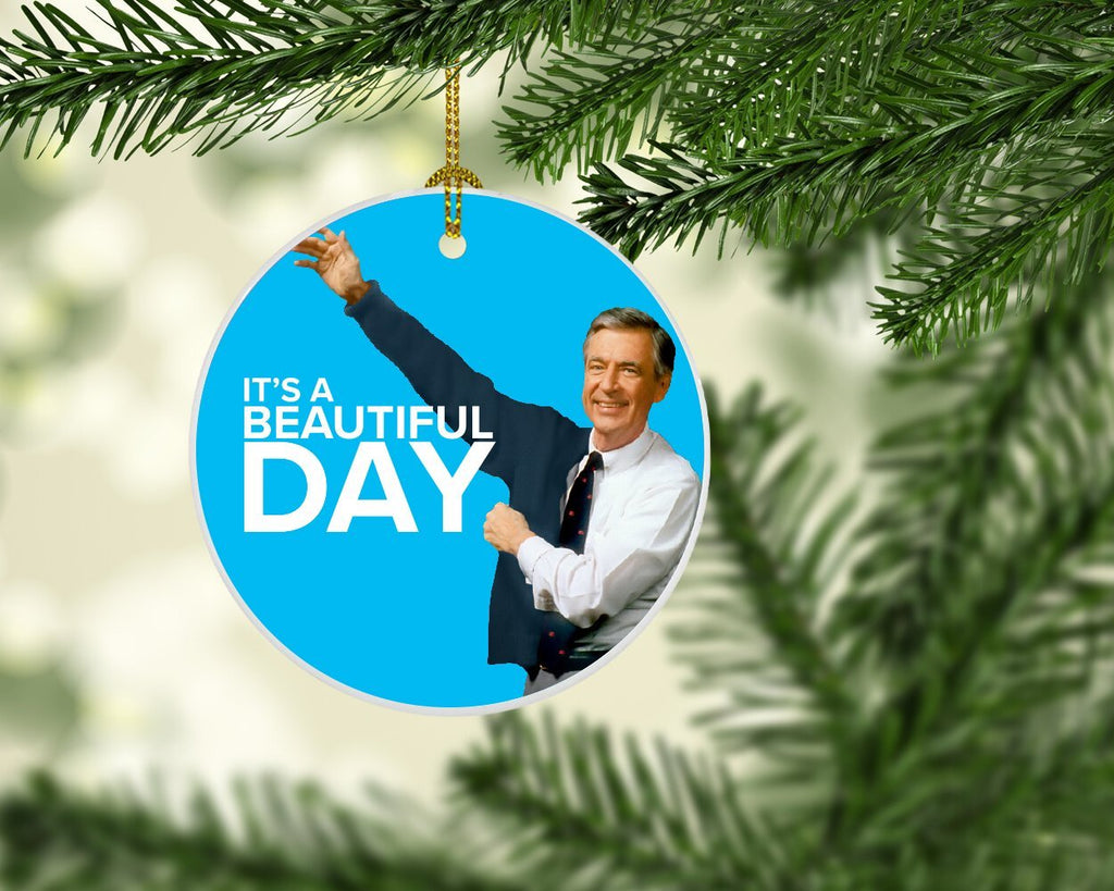 Mister Rogers It's a Beautiful Day Christmas Ornament