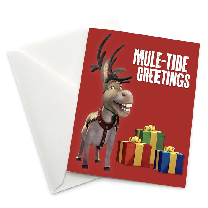 "Donkey ""Mule-Tide Greetings"" Holiday Card"