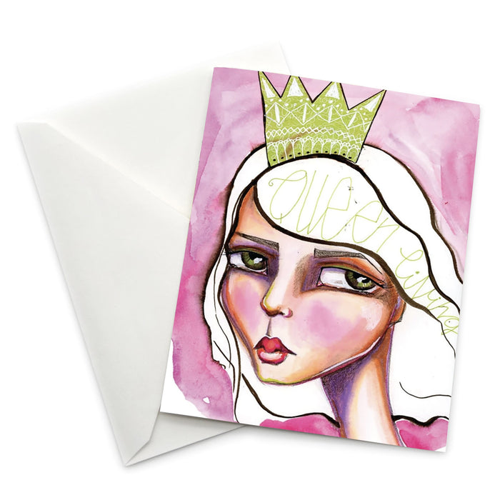 Female Empowerment Greeting Card: Queen Living