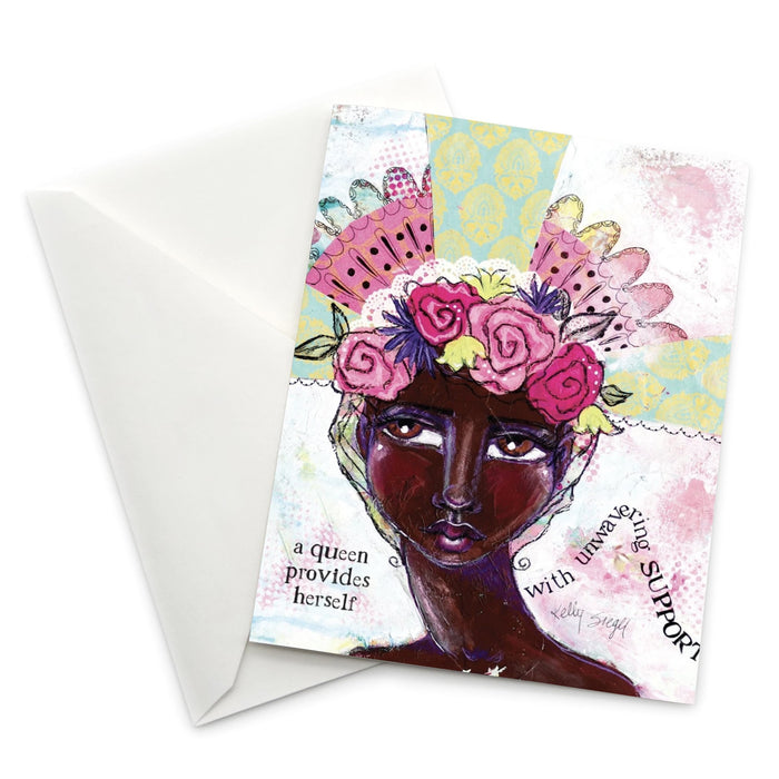 Female Empowerment Greeting Card: A Queen Provides Herself...