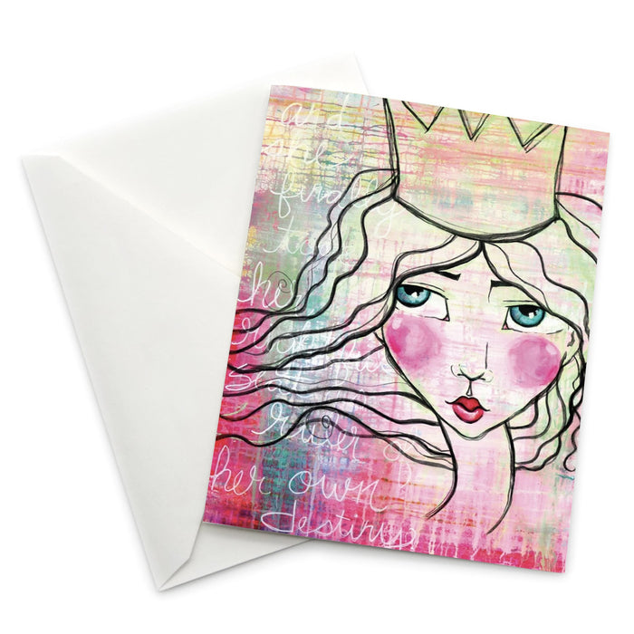 Female Empowerment Greeting Card: Queen Ruler of Her Own Destiny
