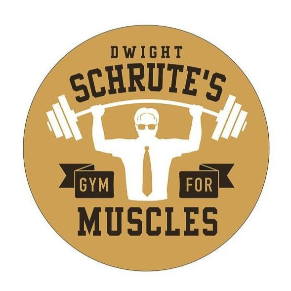 Dwight Schrute's Gym for Muscles Kiss-Cut Sticker