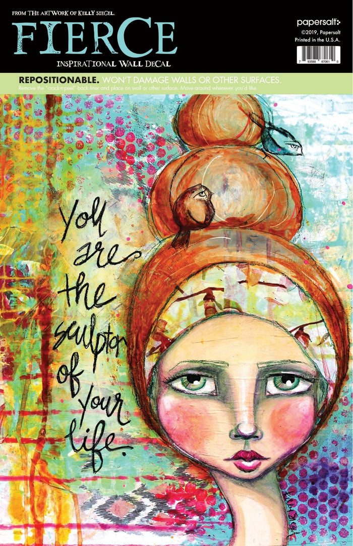 female empowerment wall decal you are the sculptor