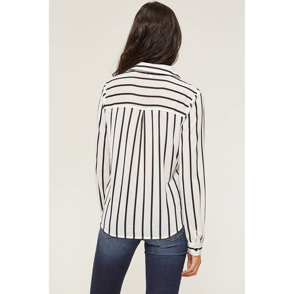 Striped Knotted Shirt | Ardene | Size S