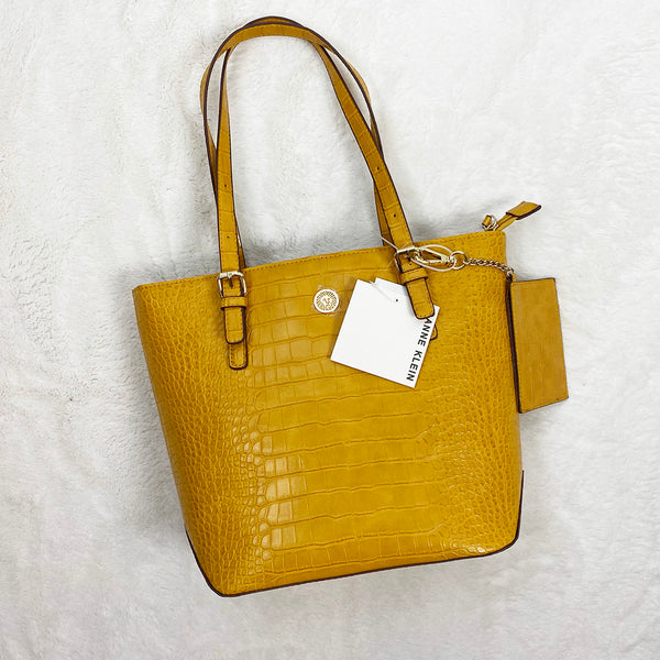 Mustard Top Zip Satchel | Ann Klein