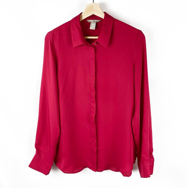 Fuchsia Button-Down Blouse | H&M