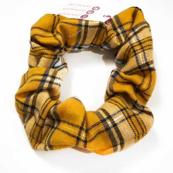 Thrift Store | Yellow Plaid Hair Scrunchie (NWT)