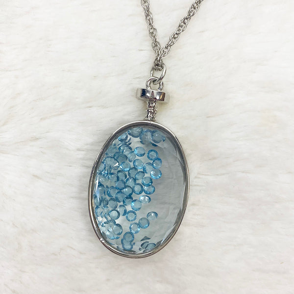 Glass Pendant Necklace, Long