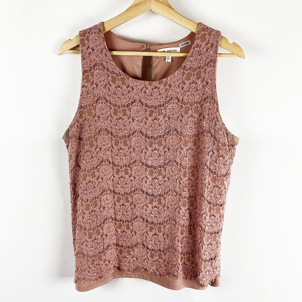 Lace Sleeveless Blouse | Faith and Joy | Size L