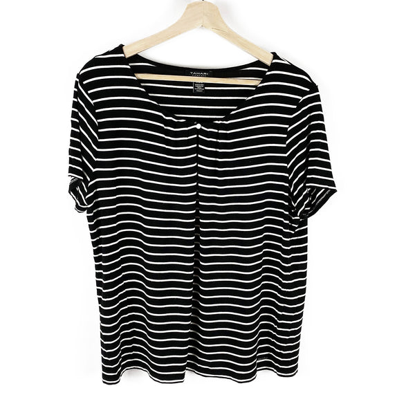 Keyhole Striped Tee | Tahari Elements | Size L