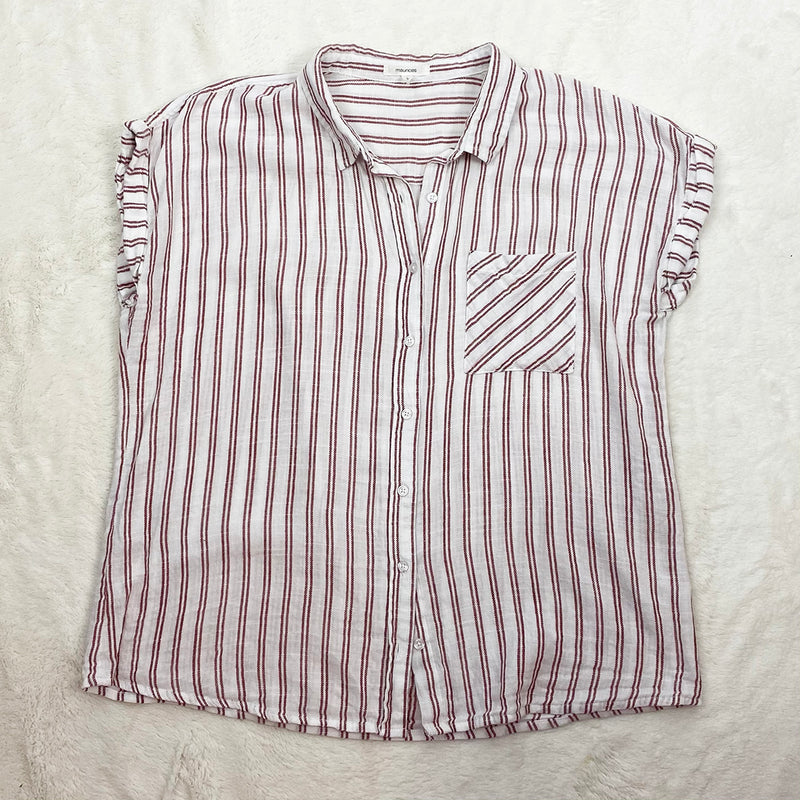 Stripe Button Down Shirt | Maurices | Size L