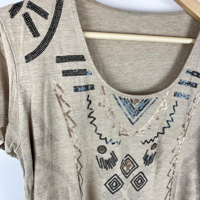 Tribal Tee with Sequins | Size 12