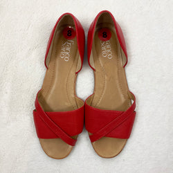 Leather Open Toe Flats | Franco Sarto