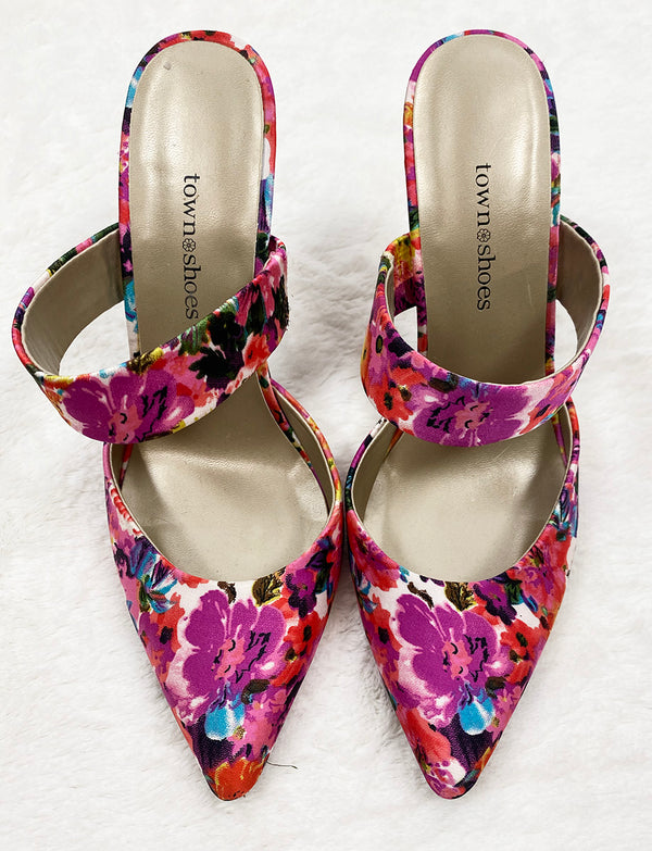Floral Pumps | Town Shoes | Size 7.5