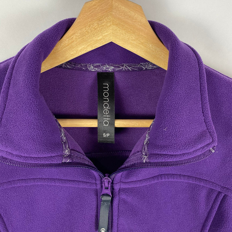 Long Purple Fleece Jacket | Mondetta | Size S