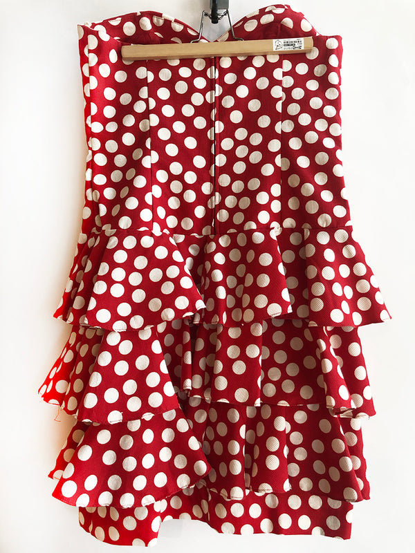 Thrift Store | Polka Dot Strapless Dress | Maggy London | Size 10