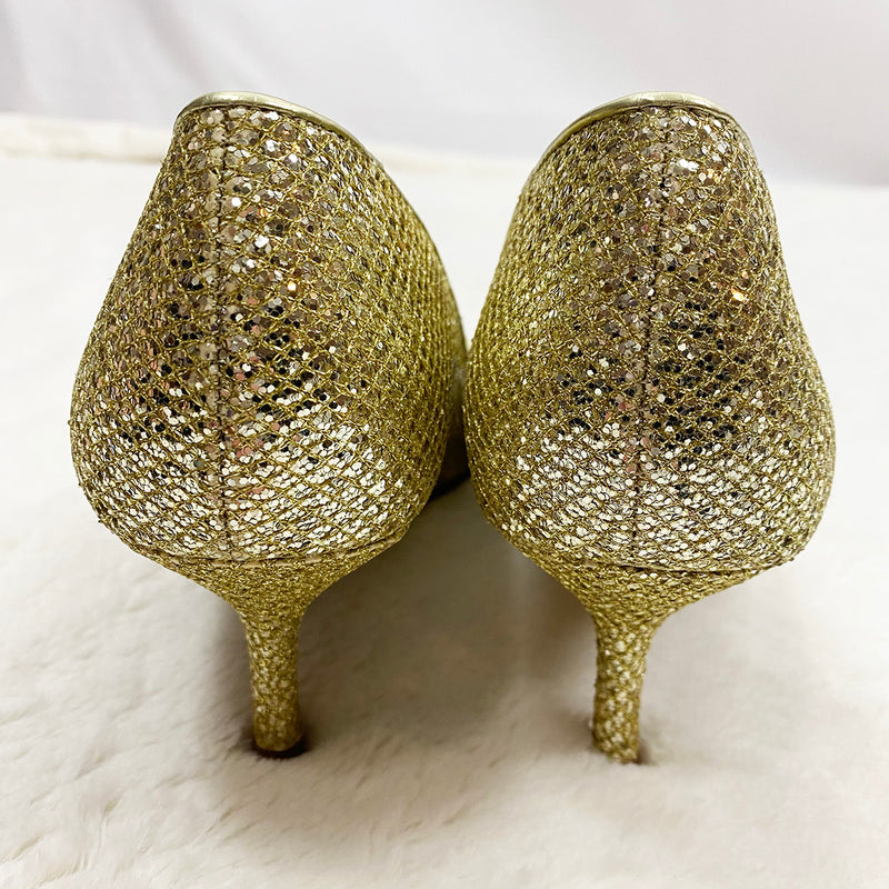 Gold Sequence Pumps | Marc Fisher | Size 9