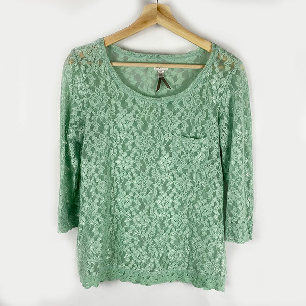 Mint Lace Top | Dynamite | Size L