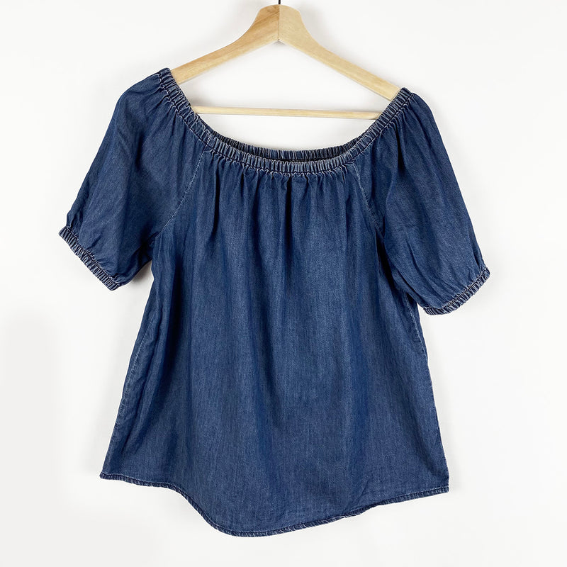 Chambray Off-The-Shoulder Top | Joe Fresh | Size S