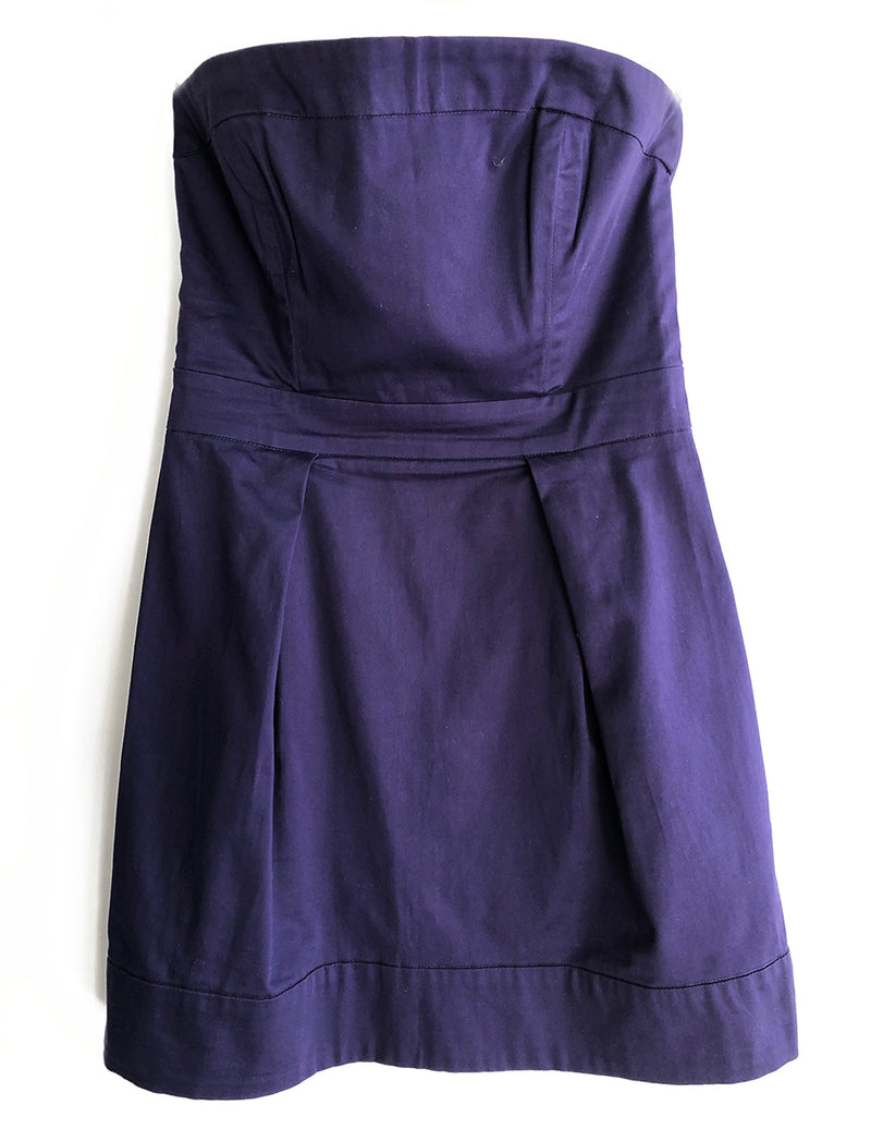 Thrift Store Strapless Dress by French Connection
