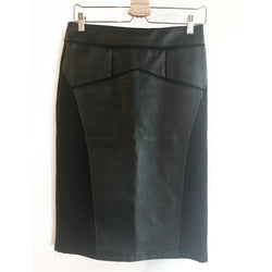 Thrift Store | Faux Leather Pencil Skirt | Carmen | Size 4