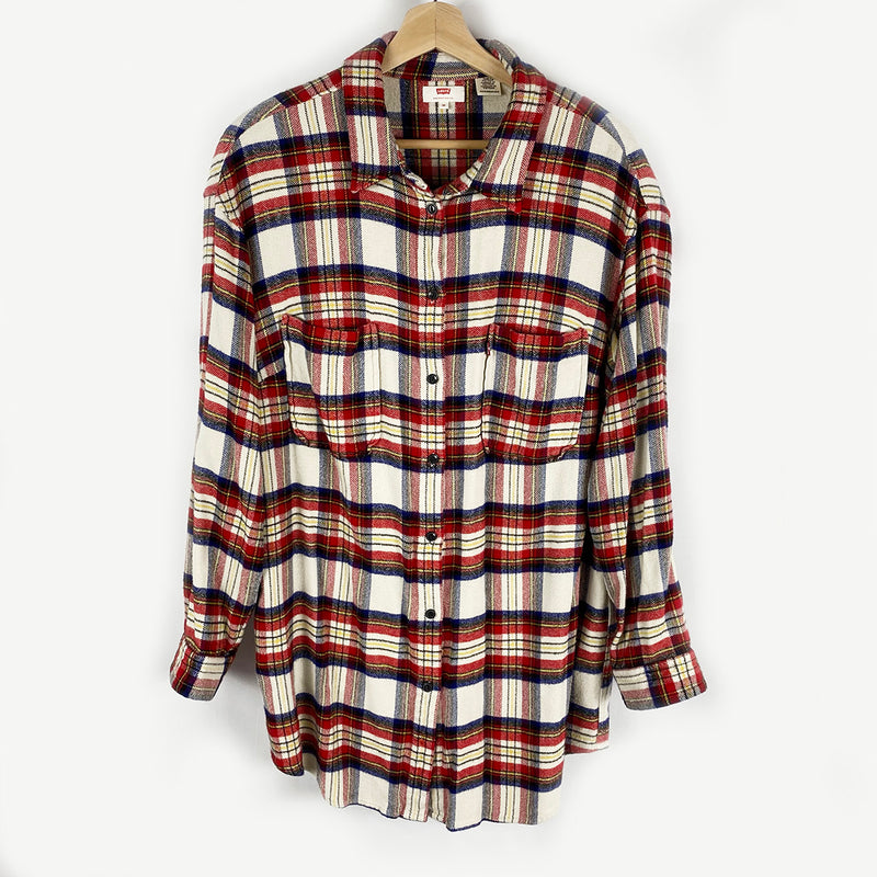 Plaid Flannel Button-Down | Levi's | Size 3X