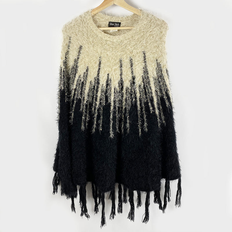 The Hairy Poncho | Silver Stitch | Size L/XL