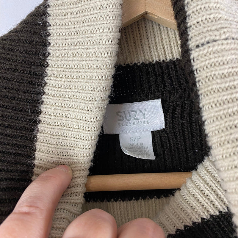 Striped Turtleneck Sweater | Suzy Shier | Size S