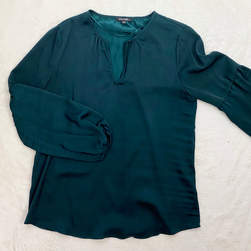Satin Balloon Sleeve Blouse | George | Size M