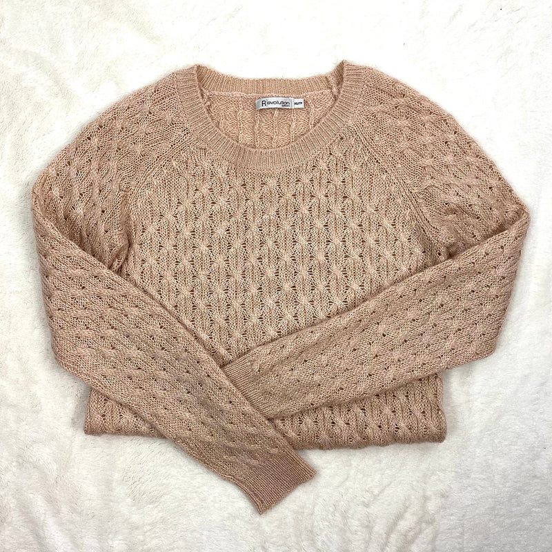 Pink + Metallic Knit Sweater | Ricki's | Size XS
