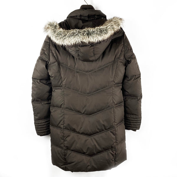 Down Quilted Coat with Hood | Esprit | Size 8