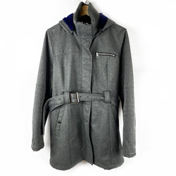 Grey Belted Jacket with Hood | Ricki's | Size XL