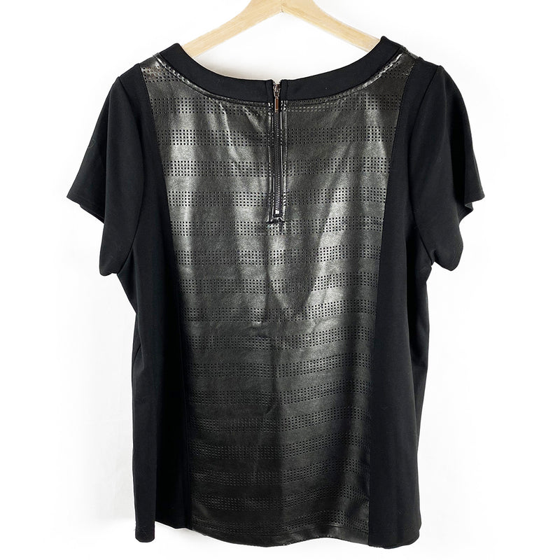 Faux Leather Top | Michel Studio Collection | Size 1X