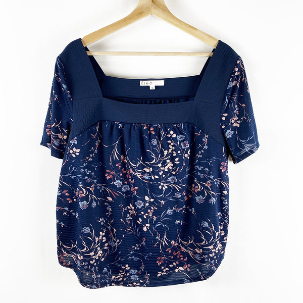 Floral Square Neck Top | Cleo | Size XL