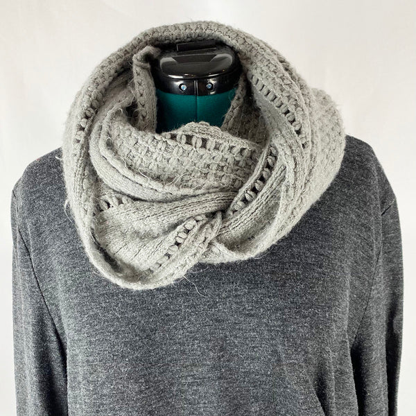 Loose Knit Infinity Scarf