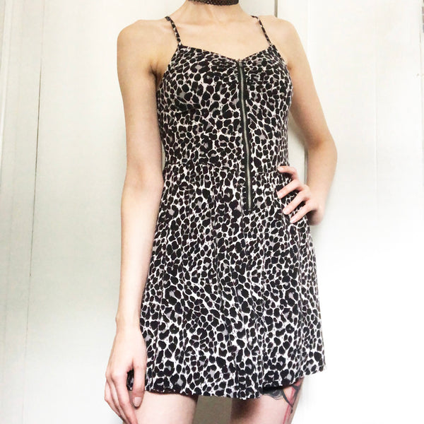 Animal Print Zip-Up Summer Dress | H&M | Size 8