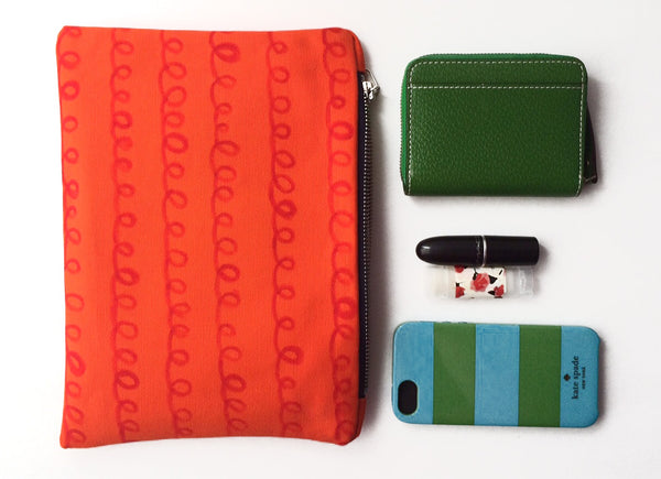 Small Orange Clutch | Carrie Joan Studio