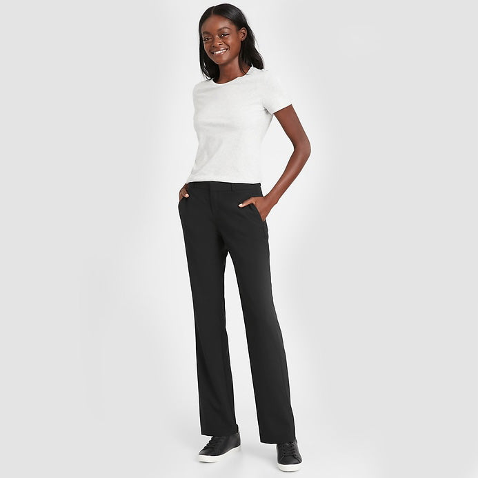 Contoured Fit Wool-Blend Trouser | Banana Republic | Size 12